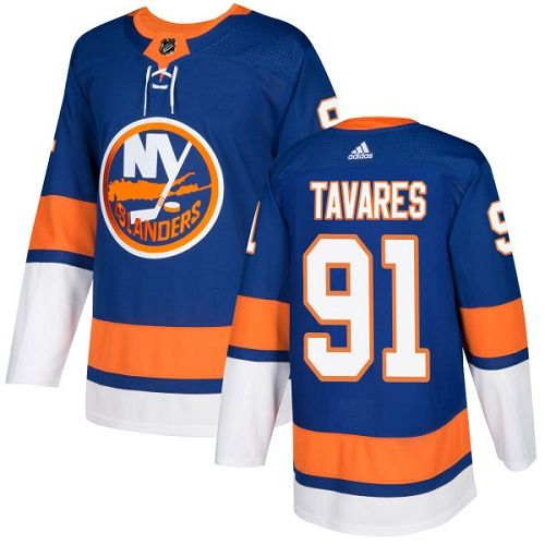 Men's Adidas New York Islanders #91 John Tavares Royal Blue Home Authentic  Stitched NHL Jersey