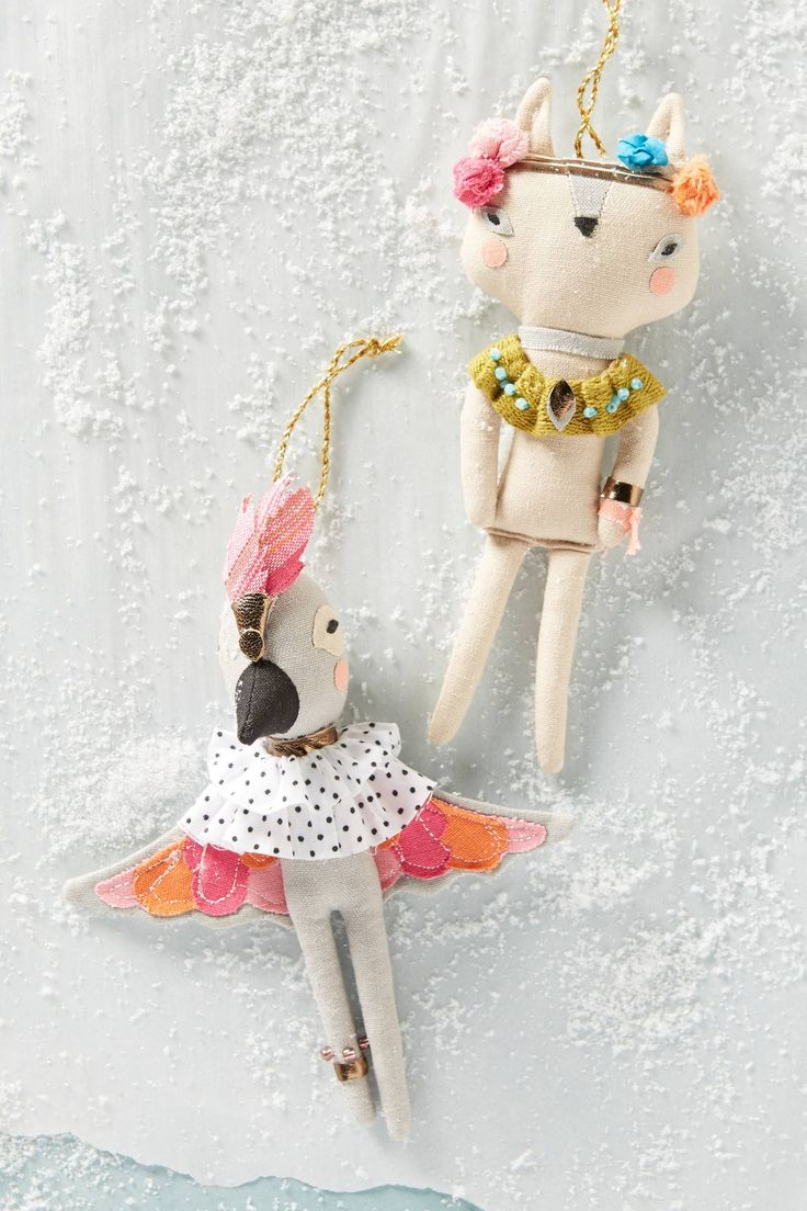 Fashionable Fauna Ornament   Pinned by topista.com