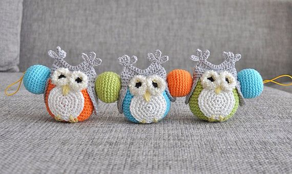 Crochet mobile. Crochet baby buggy owl mobile // can't afford this but love the idea
