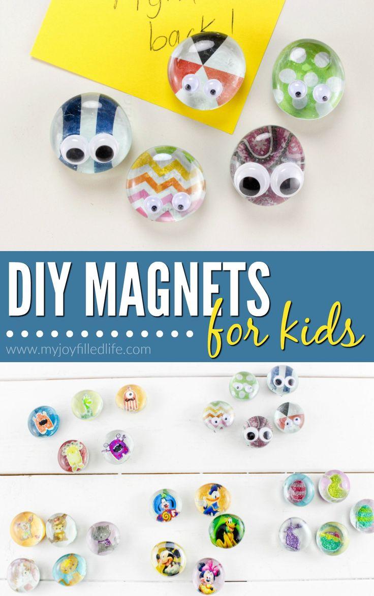 DIY Magnets for Kids - cute magnet craft for kids to make.