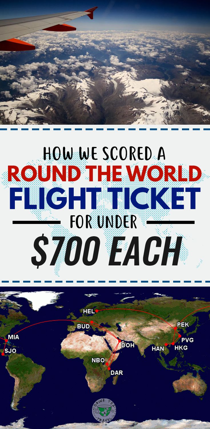 Planning a RTW trip? Check our tips on how we scored a round the world flight ticket for under $700 each,