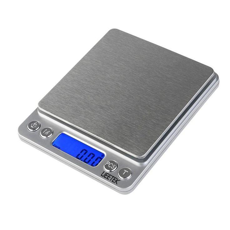 UEETEK 500g/0.01g Digital Pro Pocket Scale Kitchen Food Scale