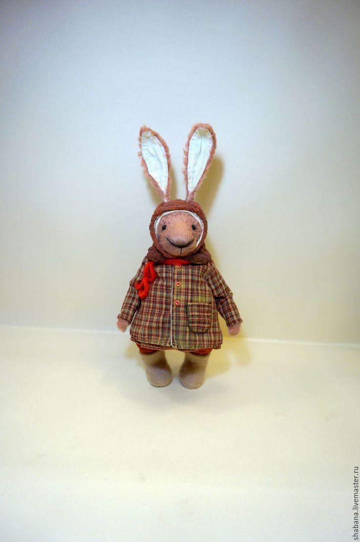 Брусничка кролик тедди - комбинированный, плюш, плюш винтажный, вискоза для мишек тедди, кролик