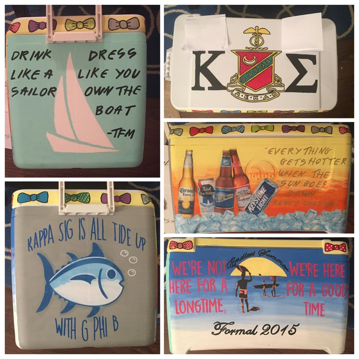 Fraternity cooler for Formal. TSM quote, Kenny Chesney quote, southern tide, endless summer, Kappa Sigma. Frat Coolers.