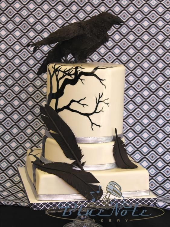 Edgar Allen Poe Themed Wedding With The Raven Blue