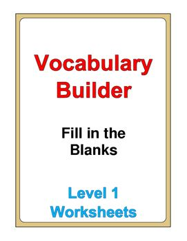 This set of worksheets consists of 112 pages of Fill in the Blanks exercises.