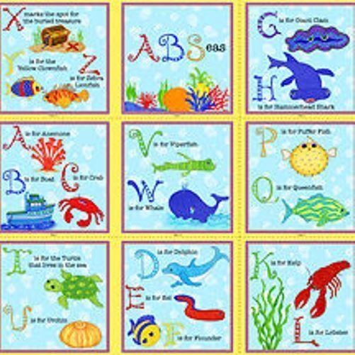 A B Seas Alphabet Under The Sea Fish Sea Creatures