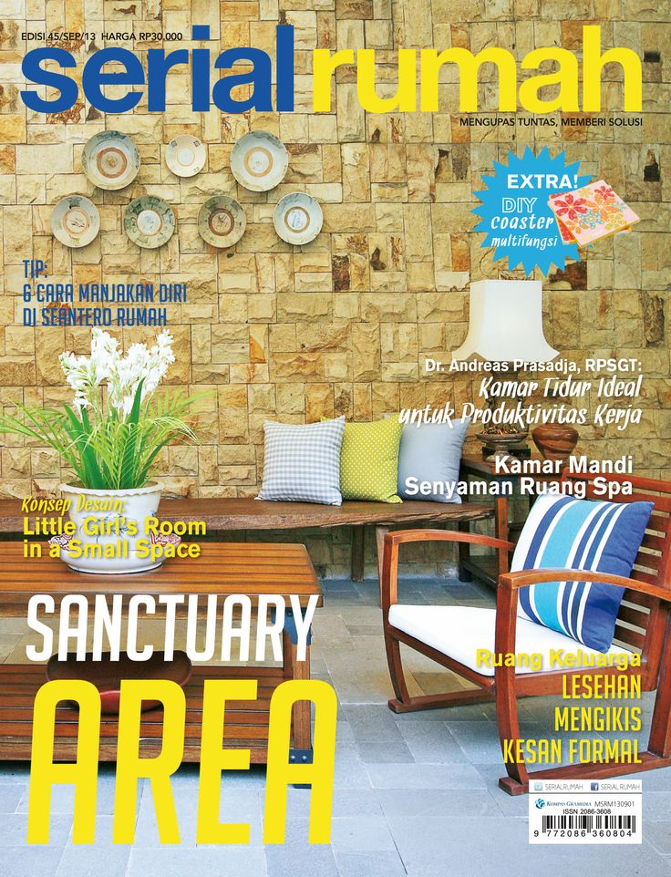 magazine design interior cover, serial rumah, sanctuary area