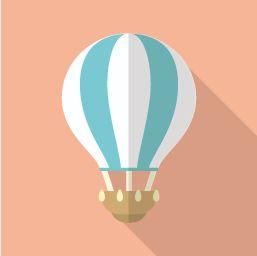 気球のフラットアイコン その2