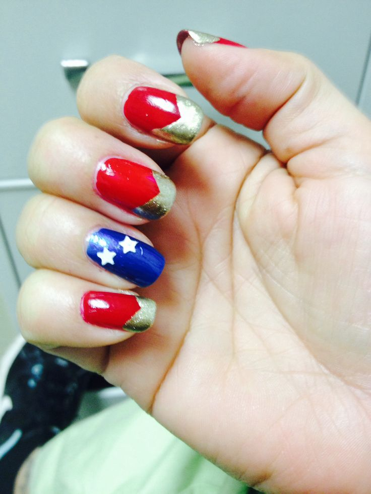 17 Best Ideas About Wonder Woman Nails On Pinterest