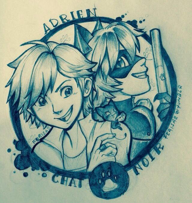 Adrien and Chat noir by Ferisae