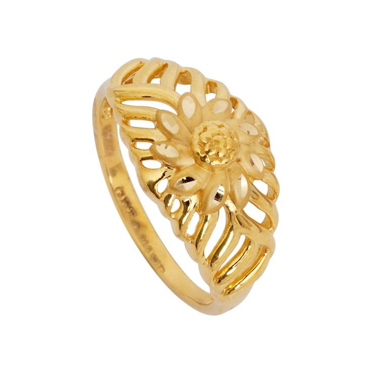 Gold ring design bd