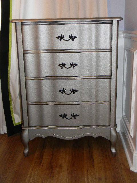 Silver Leaf Stuff on Pinterest  Silver dresser, Kitchen cabinet