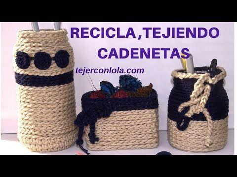 CESTA A CROCHET | TUTORIAL COMO HACER UNA CESTA A GANCHILLO PASO A PASO | CHIC DIY - YouTube