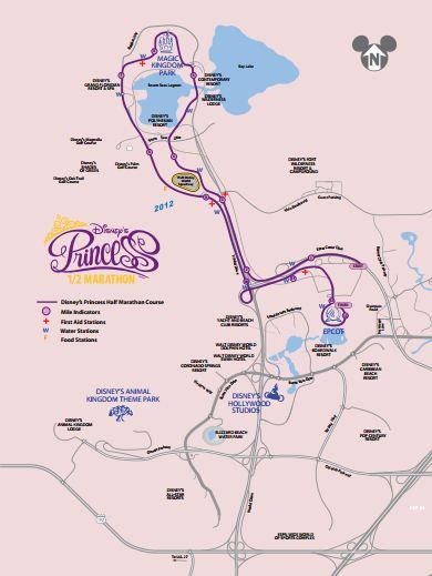 Disney Princess Half Marathon.  The course for the #princesshalf #rundisney via @Dena Aksel Aksel Aksel Shelton #fitfluential.  This would require a lot of work to prepare for it but it's still something I would love to do someday!