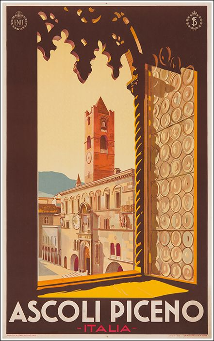 1932 Ascoli Piceno, Italy vintage travel poster