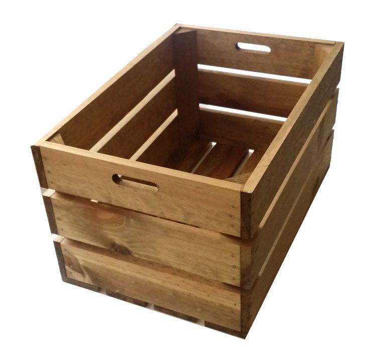 Cajas de fruta de madera envejecida se pueden hacer mil for Cosas con tarimas de madera