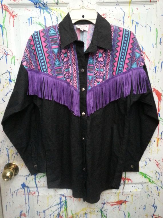 Women's Long Sleeved Pearl Snap Down Cowgirl Western Shirt ...