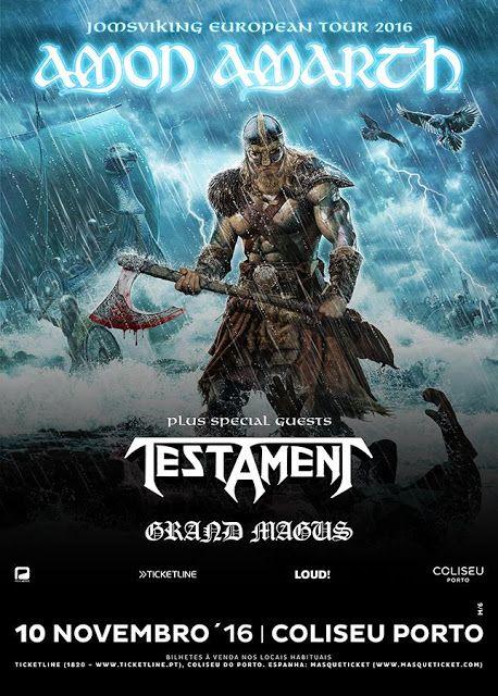 Reportagem Amon Amarth, Testament, Grand Magus @ Coliseu do Porto - 10/11/16 - World Of Metal