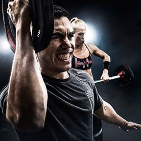 Two people in a Les MIlls GRIT™ Strength workout