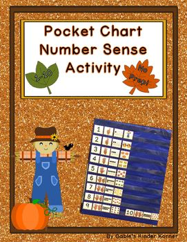 Fall Pocket Chart Number Sense Activity (1-10) #kindergarten #tpt #numbersense #counting #fall