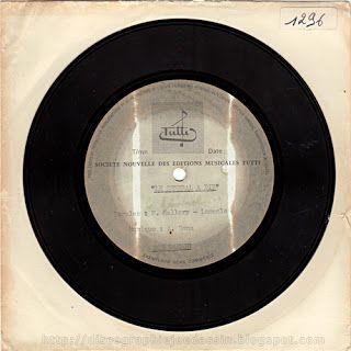 45 RPM - TUTTI 1296 - 1971 - Le général a dit