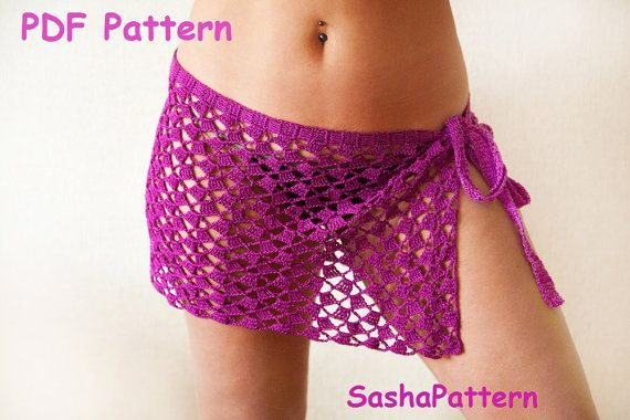 Free Crochet Pattern For Beach Wrap : Crochet beach pareo - Sarong - Beach Skirt - Cover up ...