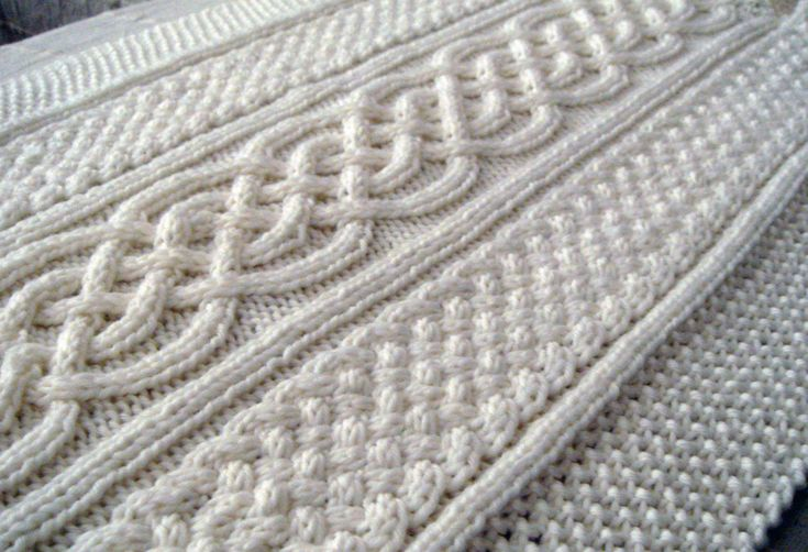 Celtic blanket knitting pattern by Naonu on etsy