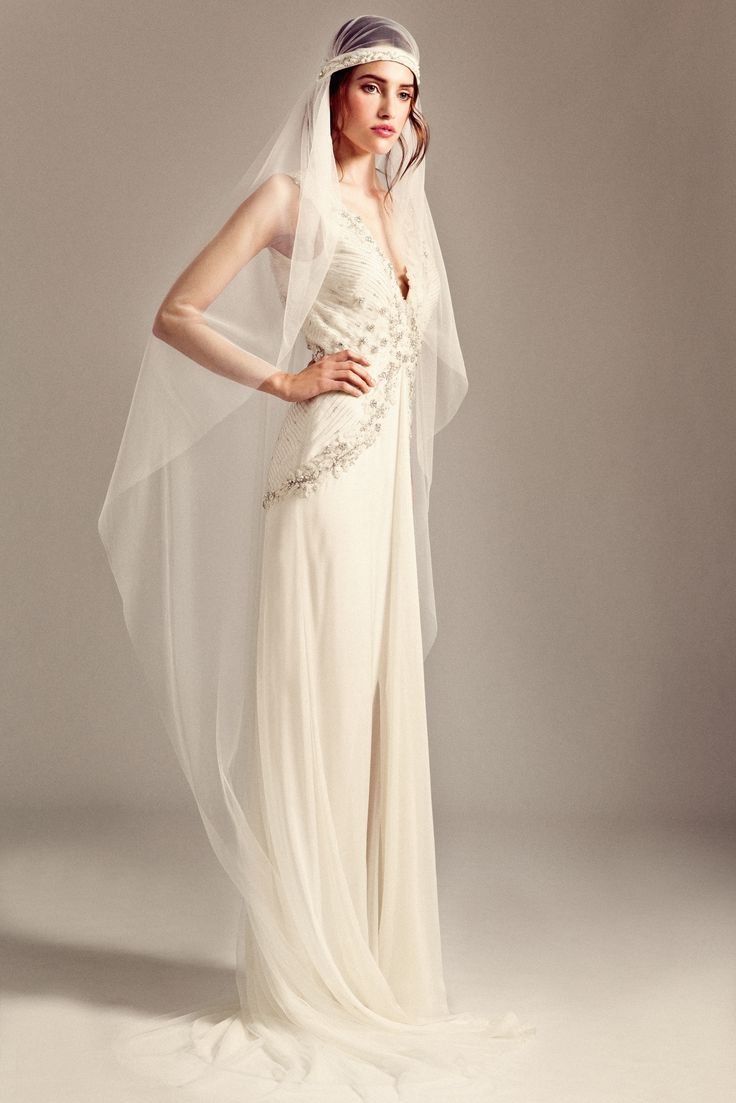 Romily dress gatsby crystal veil from the temperley for Wedding dress with veil