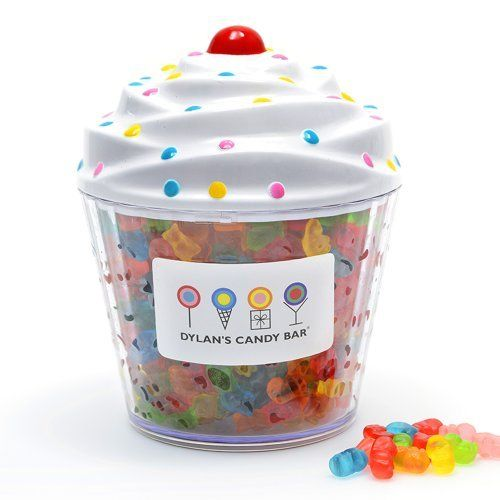 Dylan's Candy Bar Cupcake filled with Gummy Bears, CharmPosh top pick... Keep this on the table or desk! xoxo