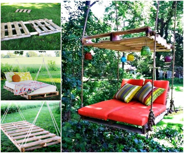 Pallet Swing Bed Diy Easy Video Instructions Lots Of Ideas