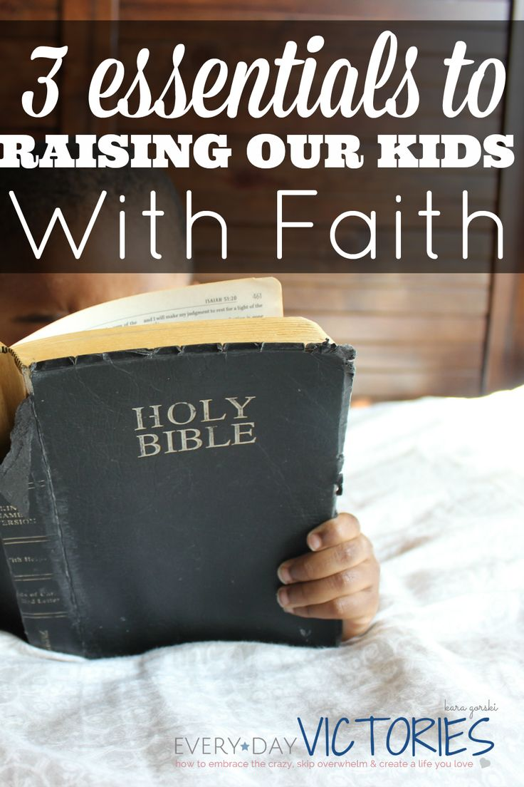 How do we help guide our kids to make good faith-based choices in today's craziness? Simple, start with these 3 essentials to raising our kids with faith.