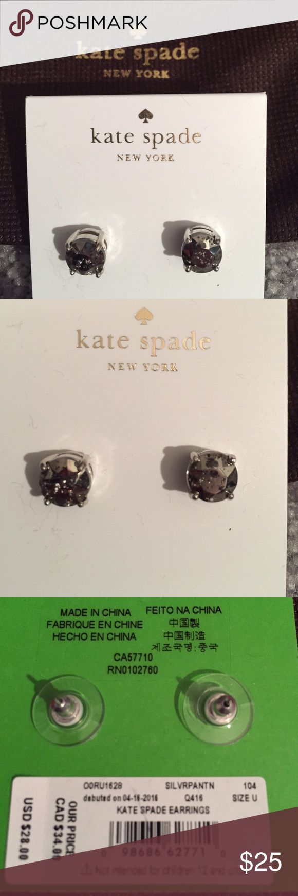 KATE SPADE STUD EARRINGS NWT SLV/PLAT. KATE SPADE STUD EARRINGS NWT SLV/PLAT. ✅ALWAYS OPEN TO OFFERS-unless marked firm on price ✅OFFERS SHOULD BE MADE THROUGH POSH OFFER FEATURE ✅PRICES NOT DISCUSSED IN COMMENTS  ✅FEEL FREE TO ASK ANY QUESTIONS  ✅Photos from the Internet could vary slightly from the item that is being shipped  ❎NO TRADES kate spade Jewelry Earrings