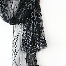 Amazon.com: Siyah şal, Siyah el yapımı şallar, Siyah gelin eşarp, Siyah Noel hediyesi, Seksi siyah şal, Siyah severler, Siyah Gümüş şal: El yapımı
