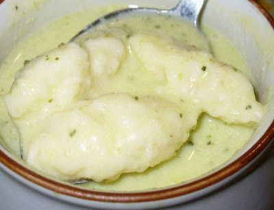 Cukkinikrémleves sajtos galuskával
