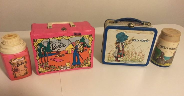 Vintage 2 Aladdin and Thermos Holly Hobbie/ Barbie Lunch Box and Thermos