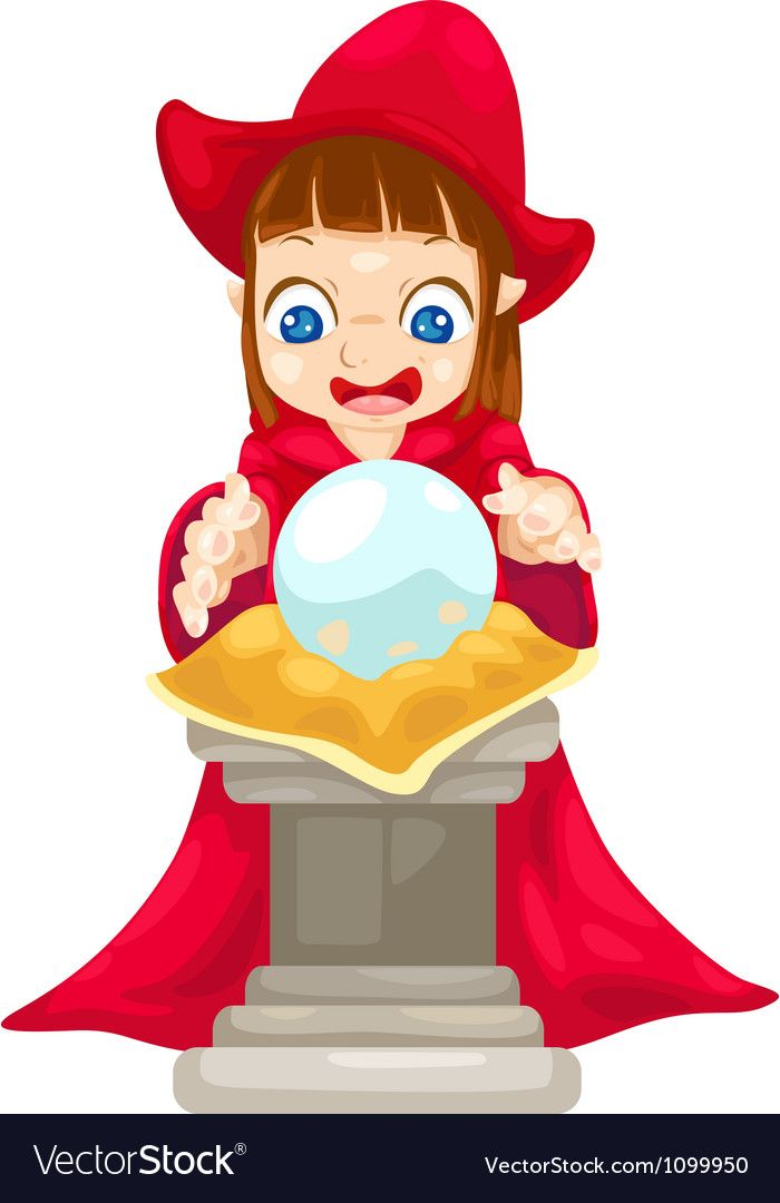 Fortune Teller With Crystal Ball Royalty Free Vector Image Crystal Ball Vector Images Vector Free