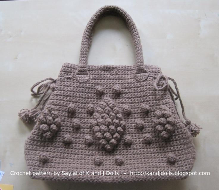 H?keln: Tasche in taupe - Anleitung H?keln, Crochet ...