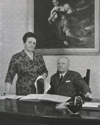 Ada and Alberto Masotti, founders of La Perla.