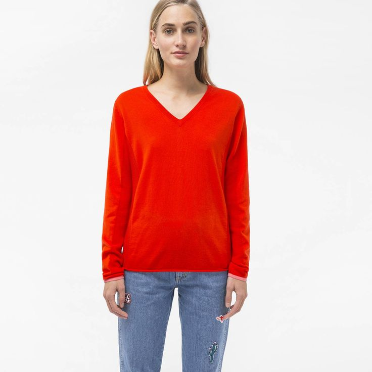 paul smith fake bags uk, Paul Smith Womens Red Cotton V-Neck Sweater Psxp-163K-756-R, paul smith shoes uk Buy Online - $94.76