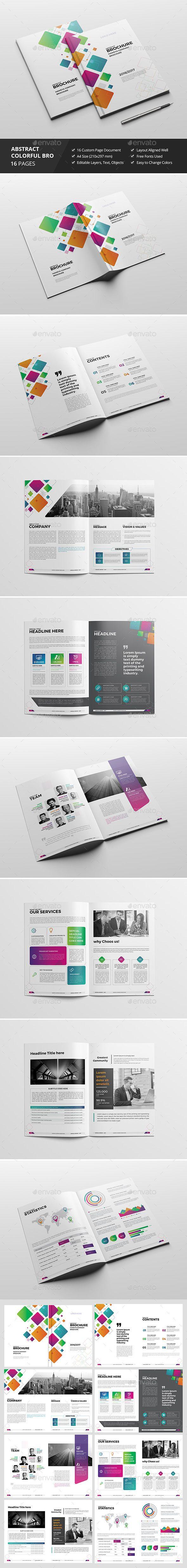 Haweya Colorful Brochure Template InDesign INDD