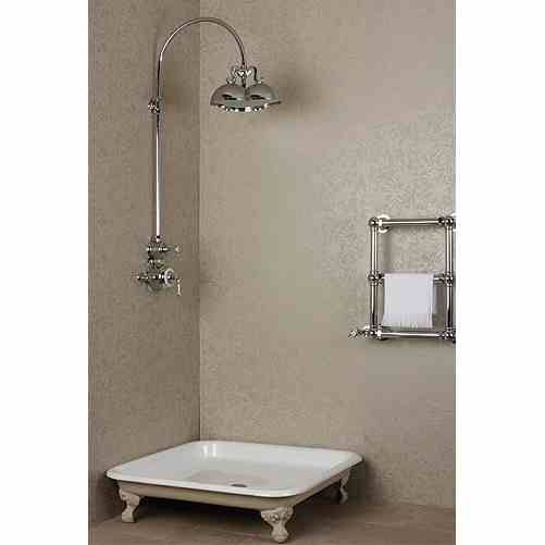 New york vintage shower with freestanding period shower for Bathroom tray ideas