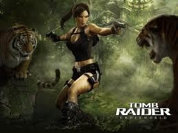 Tomb Raider: Underworld -- link this to the issue of violence in the game. Who (or what) does Lara shoot?