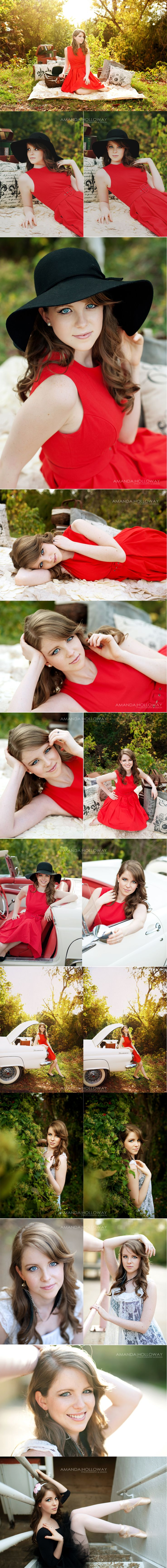 gorgeous senior shoot... love the red