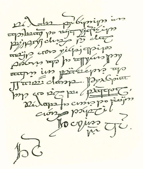 """Thorin's letter to Bilbo, written in Tengwar by J.R.R. Tolkien was not printed in the original edition of """"The Hobbit"""" because it was too difficult to reproduce."""