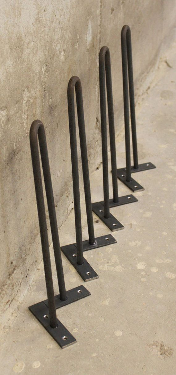hairpin table legs 16 set of 4 legs 12 smooth by