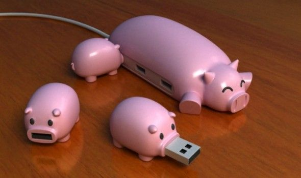 Because it's OK for school to be cute! The sow is your USB hub and the piglets are your flash drives.      #FLVS #Organized #School