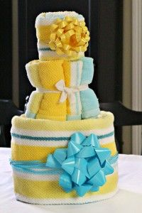 Tiered Towel Cake Tutorial What A Great Idea For Bridal Shower Or Housewarming