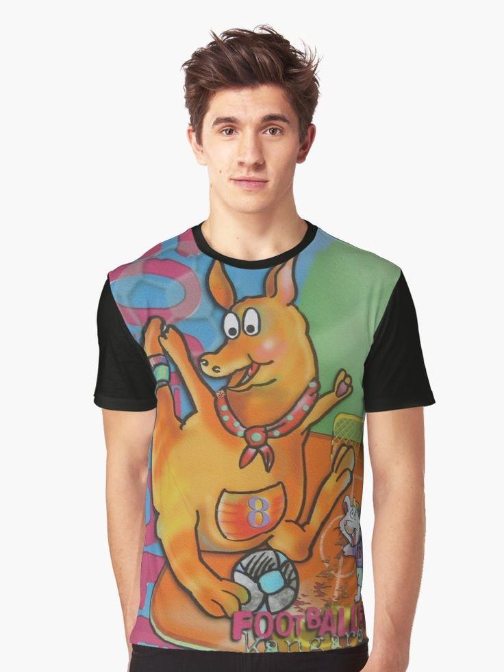 Footballer Kangaroo and Mouse (Original Drawing) Graphic T-Shirt