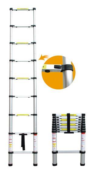 3.8M Portable Household Extension Telescopic Ladder Multipurpose Retractable Aluminum Alloy Straight Ladder Adjustable Ladder